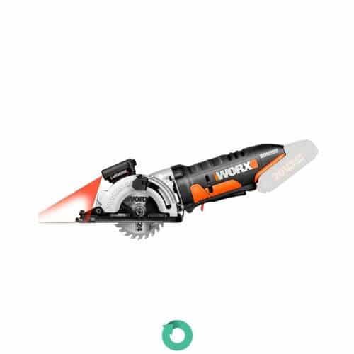 sierra circular de 400w con guia laser y disco de corte madera workx wx426