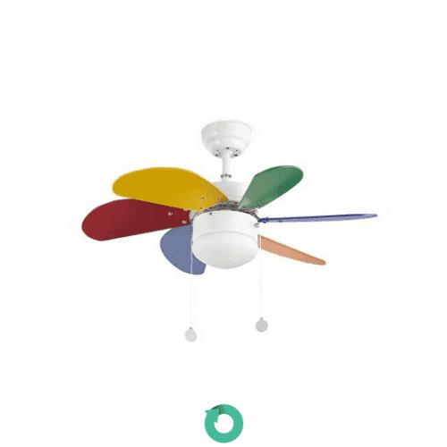 ventilador de techo infantil multicolor faro palo 33179